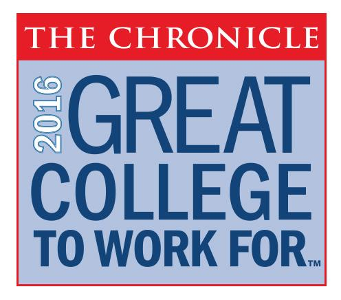 ECCC Named a Great College to Work For by The Chronicle of Higher Education