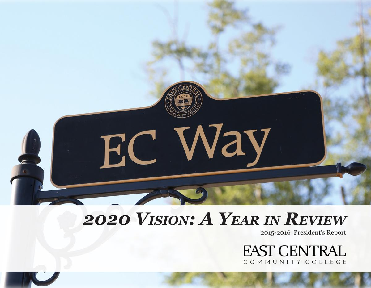 east central community college president report