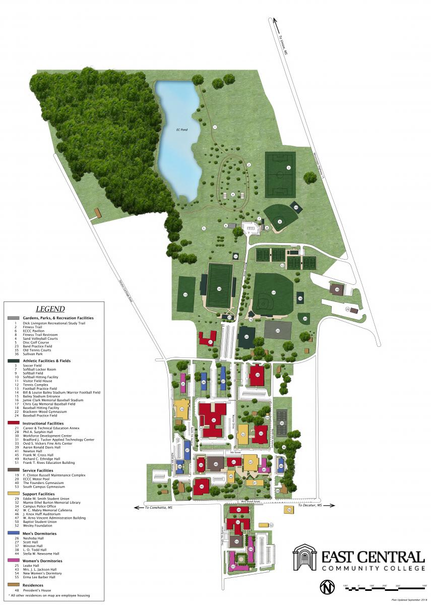 Campus Map East Central Community College