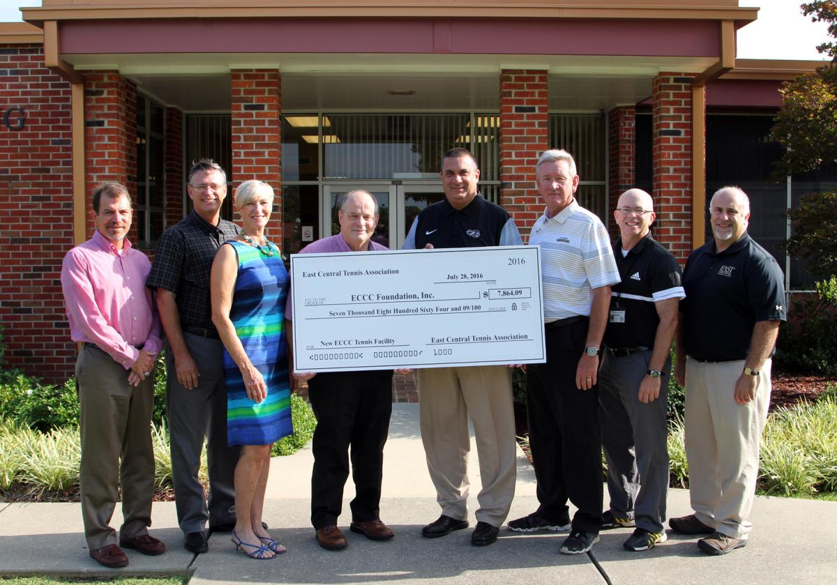 ECTA Donates to new ECCC Tennis Complex